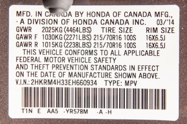 Used 2014 HONDA CR V LX LX