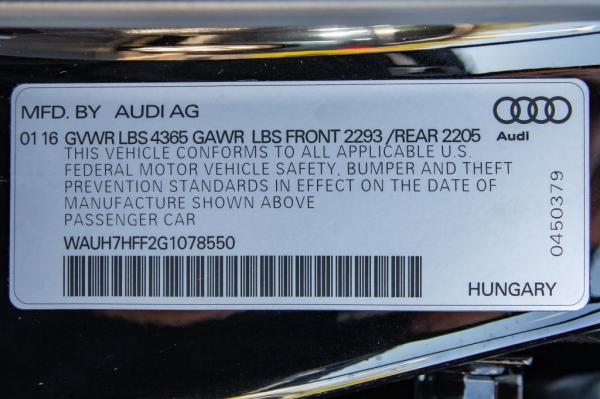 Used 2016 AUDI A3 PRESTIGE S L PRESTIGE S LINE