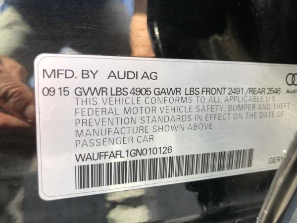 Used 2016 AUDI A4 PREMIUM PLUS PREMIUM PLUS