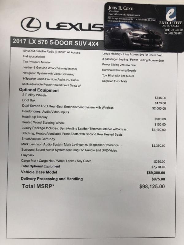 Used 2017 LEXUS LX 570 570
