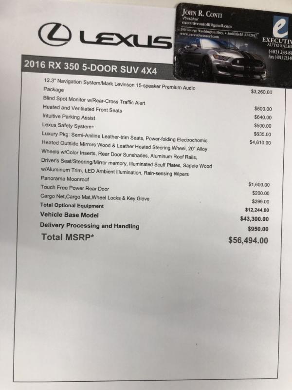 Used 2016 LEXUS RX350 350 BASE