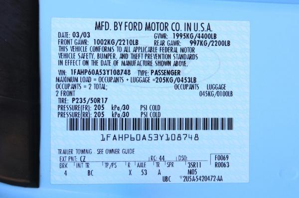 Used 2003 FORD THUNDERBIRD Premium