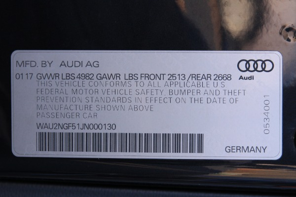 Used 2018 AUDI A5 PRESTIGE