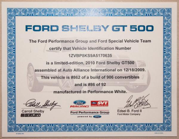 Used 2010 FORD MUSTANG SHELBY SHELBY GT500